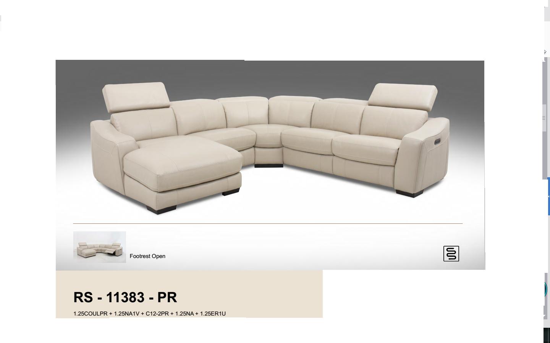 Rina 11383 Corner Modular Lounge Suite In 100 Italian