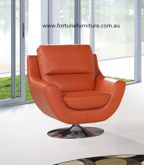 swivel italian leather chair 1328