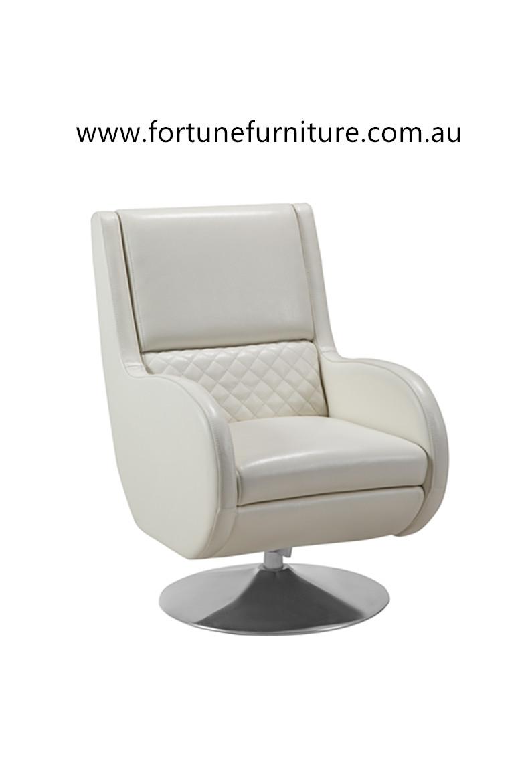 Nancy F1331 Leather Swivel Chair Fortune Furniture