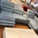 stella L-shape italian leather lounge