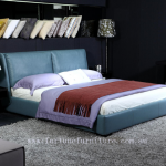 Alma itallian leather bed