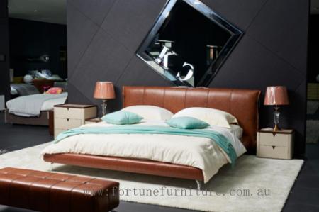 Romano italian leather bed