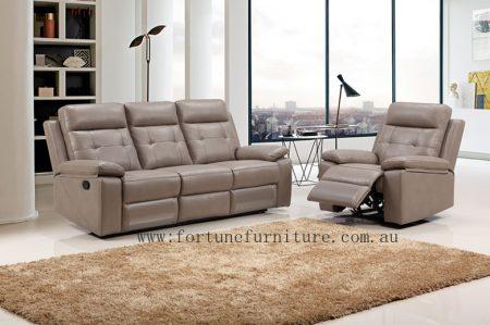 oakland Italian leather recliner lounge set