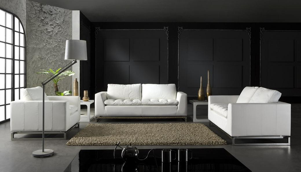S8616 Modern Leather Lounge Suite 3 2 1 Fortune Furniture