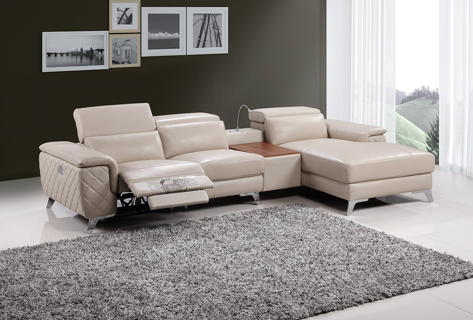 Fay 9159b chaise lounge with electronic recliner fortune for Chaise and recliner