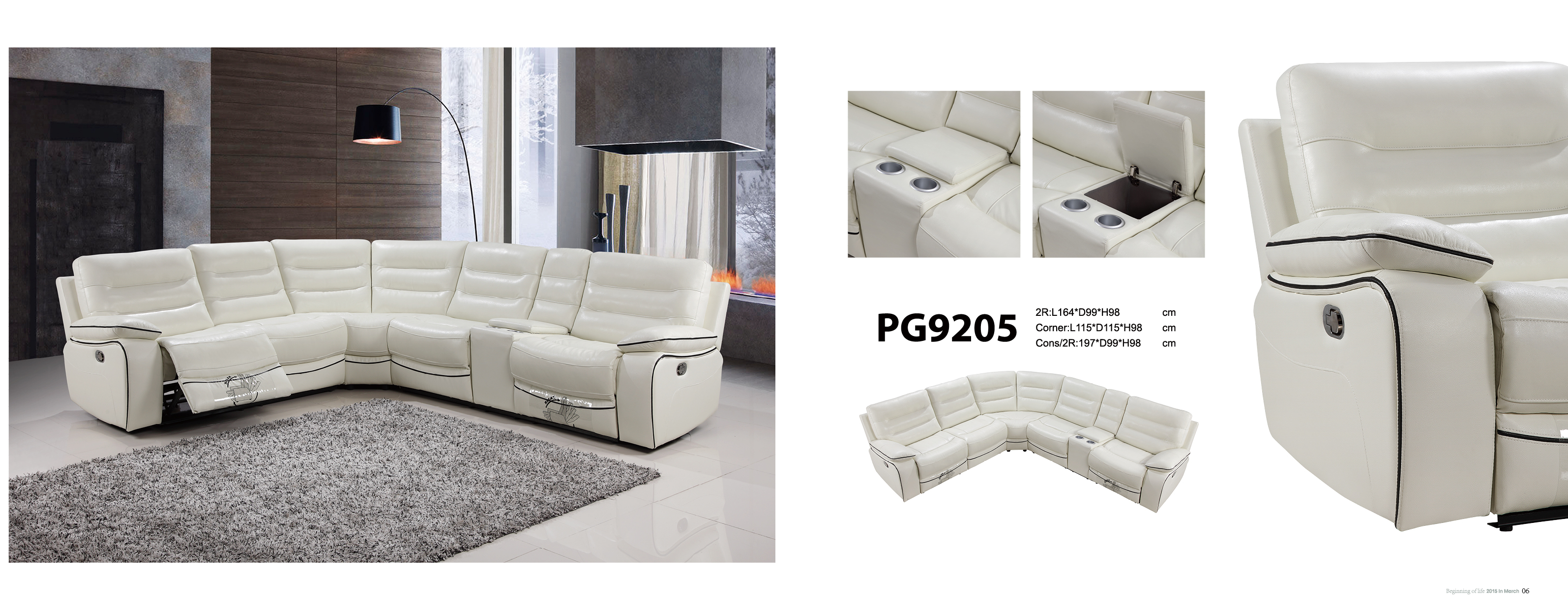 Manly Modular Lounge With Recliner Fortune Furniture