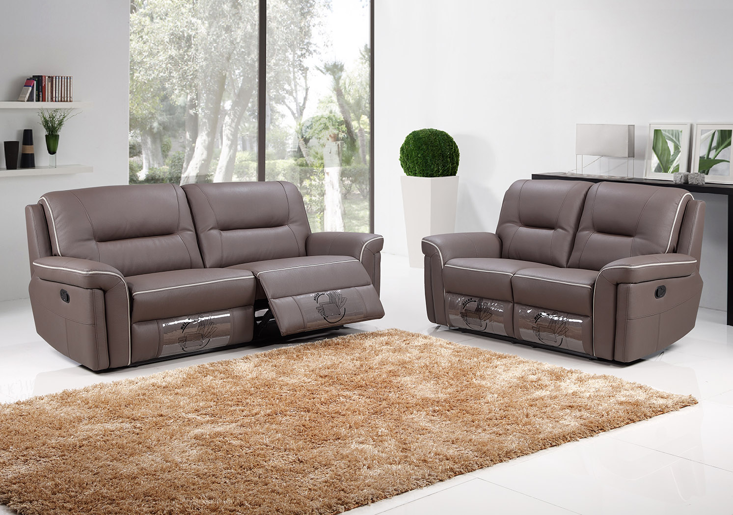 3rr2rr F9203 Modern Recliner Lounges Suite Fortune