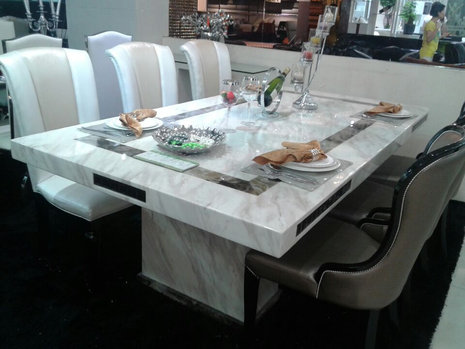 Malia F3033 Marble Dinning Table Fortune Furniture