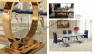 Zoe 617 dining table -rosegold