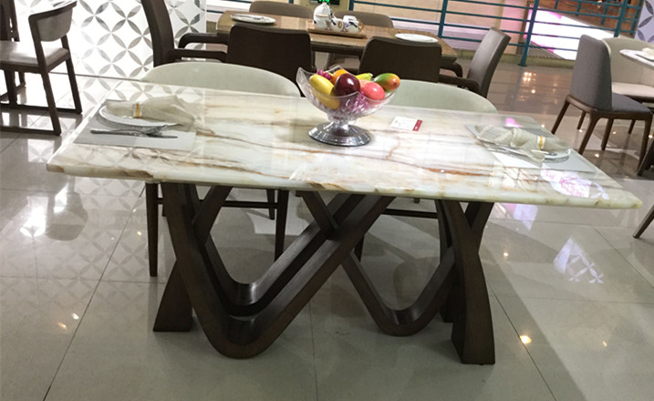 Shirly Natural Marble Dining Table Onyx Fortune Furniture