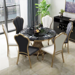 Glory dining table rose-gold finish