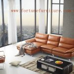 cloud L-580 L shape italian leather lounge