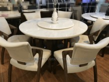 selma round table in natural onyx