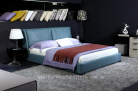 Alma italian leather bed