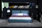 Alma itallian leather bed
