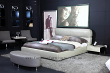 Carina italian leather bed