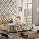 Louis classcial leather bed