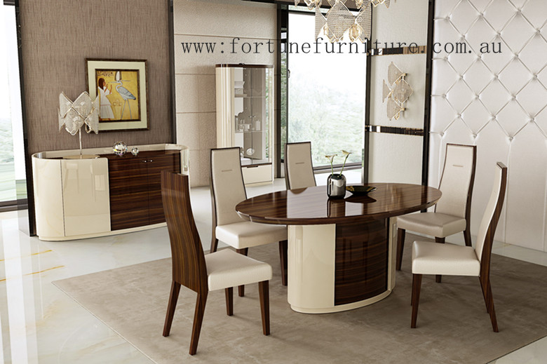 Mila dining table + buffet .