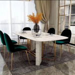 Pauline marble dining table