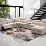 Cora itallian leather u shape lounge